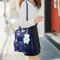 New Trend Casual Backpack Shoulder Bag - Blue