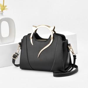 Fashion Trend Simple Single Shoulder Handbag - Black
