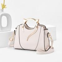 Fashion Trend Simple Single Shoulder Handbag - White