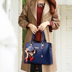 Fashion Large Capacity Stylish Shoulder Handbags - Blue