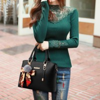 Fashion Large Capacity Stylish Shoulder Handbags - Black