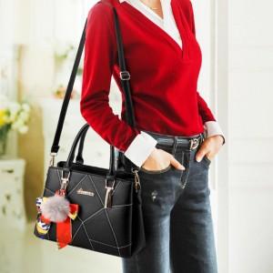 High Quality Casual Fashion Crossbody Shoulder Bag - Black