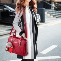 High Quality Casual Fashion Crossbody Shoulder Bag - Wine Red