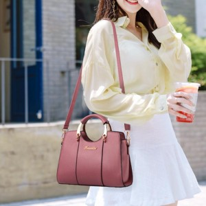 Fashion Style Casual Tote Handbag - Pink