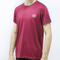 Round Neck Short Sleeved Summer Wear Men T-Shirt - Red