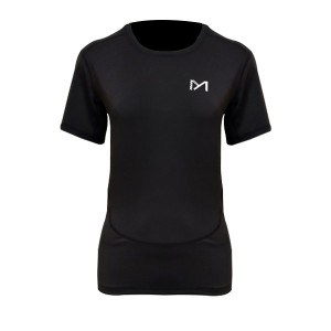 Short Sleeves Round Neck Solid Color T-Shirt - Black
