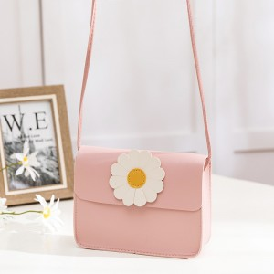 Synthetic Leather Magnetic Lock Women Messenger Bag - Pink