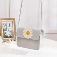 Synthetic Leather Magnetic Lock Women Messenger Bag - Gray
