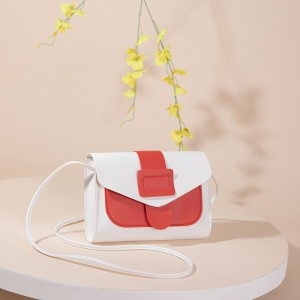 Synthetic Leather Magnetic strap Lock Women Messenger Bag - Red