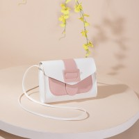 Synthetic Leather Magnetic strap Lock Women Messenger Bag - Pink