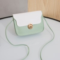 Synthetic Leather Solid Color Magnetic strap Lock Women Shoulder Bag - Green