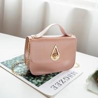 PU Leather Luxury Fashion Women Messenger Bag - Pink