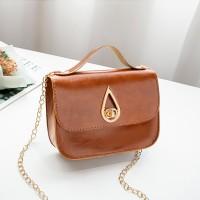 PU Leather Luxury Fashion Women Messenger Bag - Brown