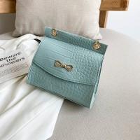 Synthetic Leather Crocodile Pattern Luxury Color Women Shoulder Bag - Sky Blue