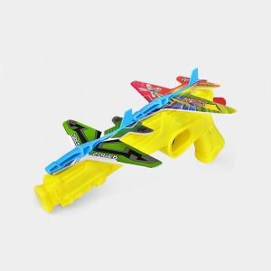 Kids Foam Ejection Aircraft Pistol Launcher - Yellow