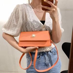 Luxury Design Trendy Casual Women Shoulder Bags - Orange