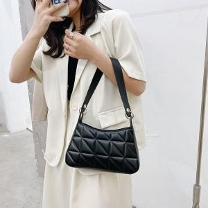 Women Fashion Vintage Texture Underarm Bag - Black