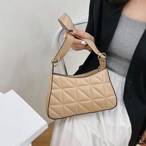 Women Fashion Vintage Texture Underarm Bag - Khaki