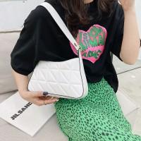 Women Fashion Vintage Texture Underarm Bag - White