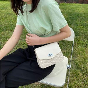 Girls Fashion Trending Small Fresh Simple Shoulder Bag - Beige