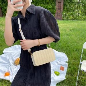 Girls New Design Canvas Mini Shoulder Bag - Khaki