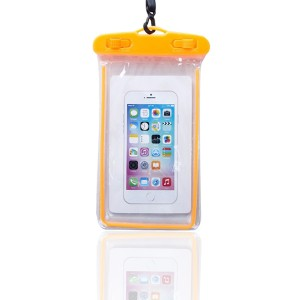 High Quality Plastic Waterproof Bag Case Touchable For All Phones - Orange