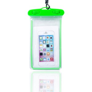 High Quality Plastic Waterproof Bag Case Touchable For All Phones - Green