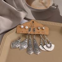 Carved Hooked Women Fashion Bohemian Earrings Set