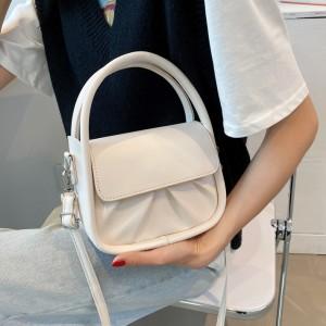 Double Handle Girls Fashion Mini Handbag - White