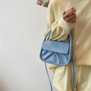 Double Handle Girls Fashion Mini Handbag - Blue