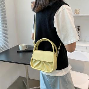 Double Handle Girls Fashion Mini Handbag - Light Green
