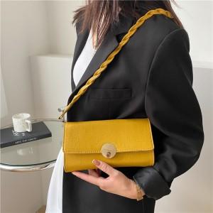 Braid Strip New Fashion Simplicity Women Handbag - Yellow