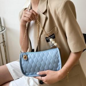 Fashion Simplicity Casual Retro Women Handbag - Sky Blue