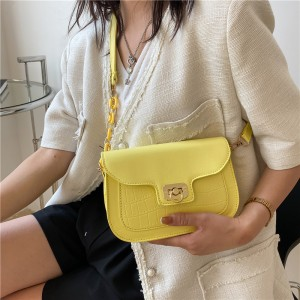New Retro Casual Trend Saddle Shoulder Bags - Yellow