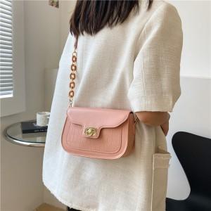 New Retro Casual Trend Saddle Shoulder Bag - Pink