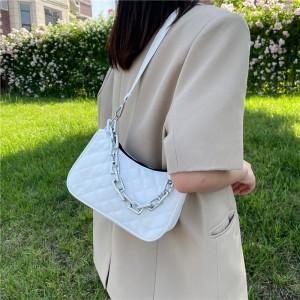 New Trendy High Quality Chain Shoulder Armpit Bag - White