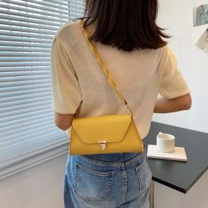Temperament Elegant Armpit Single Lock Shoulder Bag - Yellow
