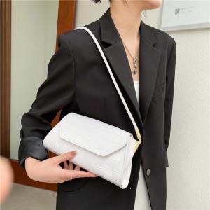 Crocodile Print Crossbody Women Handbag - White