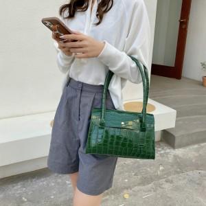 Fashionable Retro Luxury Square Hand Bag - Dark Green