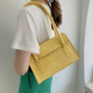Fashionable Retro Luxury Square Hand Bag - Yellow