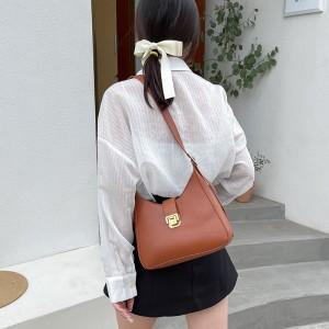 High Quality Half Moon Crossbody Women Shoulder Bag - Brown