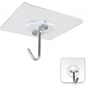 Universal Strong Seamless Hanger Clear Waterproof Wall Stickers Hook - One Piece
