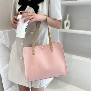High Quality Tote Shopping Women Handbag - Pink