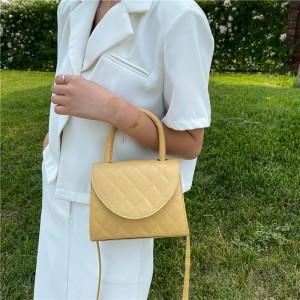 Rhomboid Square Fashion Mini Shoulder Handbag - Yellow