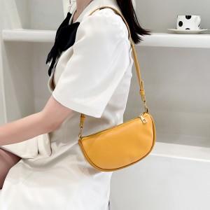 Girls Fashion Simple Shoulder Bag - Yellow