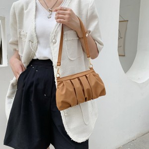 Girls Fashion One Side Mini Shoulder Bag - Brown