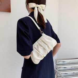 Girls Fashion One Side Mini Shoulder Bag - White