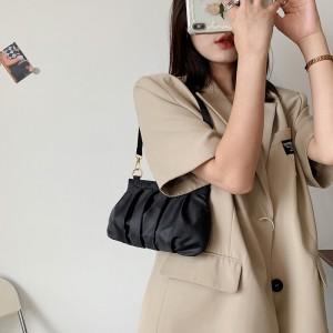 Girls Fashion One Side Mini Shoulder Bag - Black