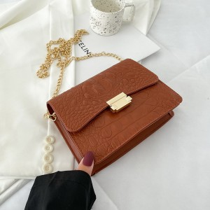 New Stone Design Women Fashion Shoulder Bag - Brown