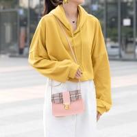 Synthetic Leather Magnetic Lock Luxury Women Shoulder Messenger Bag - Pink